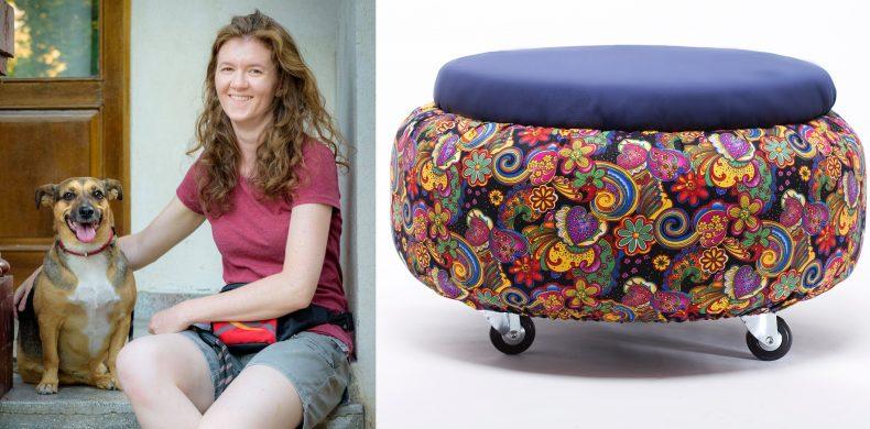 Rotomanii: mobila comodă și colorată, din cauciuc