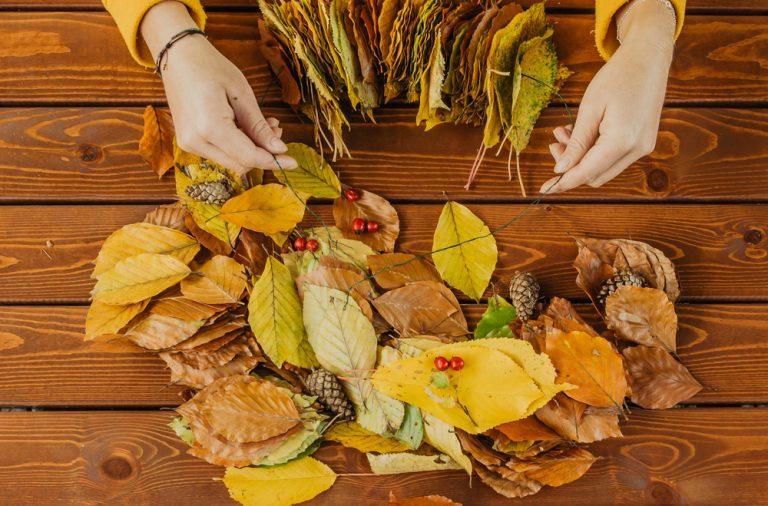 idei de ornament cu frunze