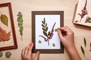 opete de arta din frunze uscate
