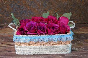 cosuri pentru flori din cutii de pantofi